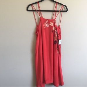 Free People Flower Fields Embroidered Swing Dress